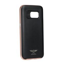 KAKUSIGA Carbon Texture + Frame Protective Case - Galaxy S7 Edge - Pink