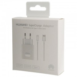 Cargador Original Huawei AP81 Carga Rapida SuperCharge (5A) Tipo C para P10, P10 Plus, Mate 9, 10, Blister