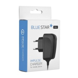 Cargador de Red + Cable Micro Usb Universal Blue Star - 2A - Negro