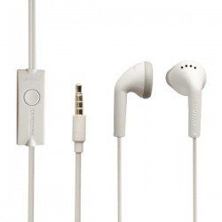 Auriculares Manos Libres Original Samsung EHS61ASFWE, On Ear, Blanco, Bulk