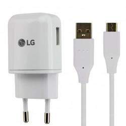 Cargador Original LG MCS-N04ER, 3000mAh + cable USB tipo C para LG G5,Nexus 5X,6P, Blanco, bulk