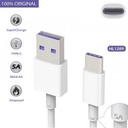 Cable de Datos Original huawei HL1289 USB 3.1 a Tipo C (5A) para Mate 9, P10, Plus, Lite