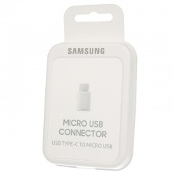 Original Adapter SAMSUMG EE-GN930BWE Micro-USB to USB-C White - Blister
