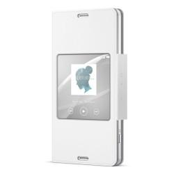 Funda de Libro Con Ventana SCR26 Original Sony Xperia Z3 Compact - Blanco