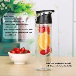 Botella con infusor 800 ml para hacer agua de frutas - Libre de  bisfenol A  - Color Negro,