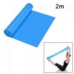 banda elastica de resistencia Aerobica Pilates, Yoga, fisioterapia, deportes -Longitud 1,5m - Azul