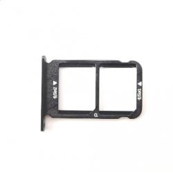 Repuesto Bandeja Dual Sim para Huawei Honor 10, Negro