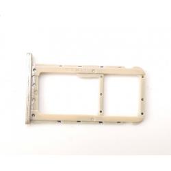 Repuesto Bandeja Sim + MicroSD para Huawei P20 Lite, Dorado, Bulk