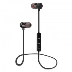 Auriculares de deporte Bluetooth Inalambricos con iman - Negro
