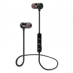 Auriculares de deporte Bluetooth Inalambricos con Microfono y iman - Negro