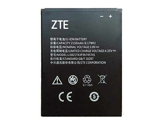 d4ca14cdcfd Original Battery ZTE Li3821T43P3h745741 for ZTE Blade L5,L5 Plus - Bulk +  Gift - thephonecenter.es