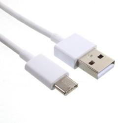 Xiaomi USB Type C (USB-C) 3A d'origine, compatible avec câble de chargement rapide - Noir - En vrac + Protecteur de câble