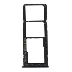 Repuesto Bandeja Sim Compatible con A7 2018 Dual Sim + SD, Negro