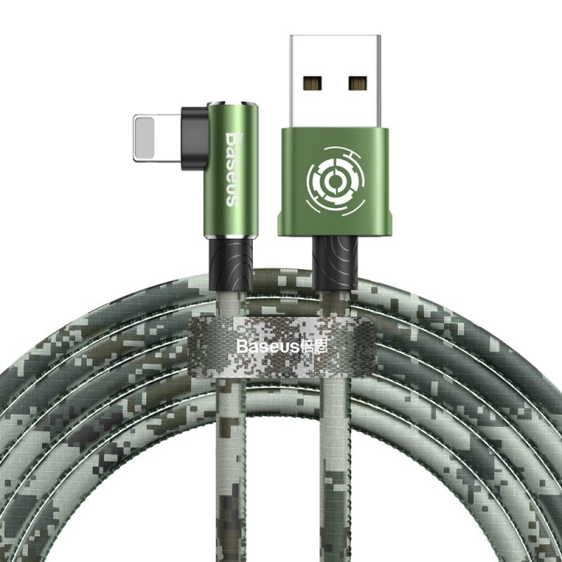 BASEUS Camouflage Elbow Mobile Game Cable Lightning 2m for lPhone, lPad