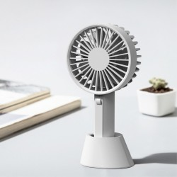 XlAOMl YOUPIN VH Adjustable Base Portable Handheld Fan 3 Wind Speed USB Rechargeable - Grey