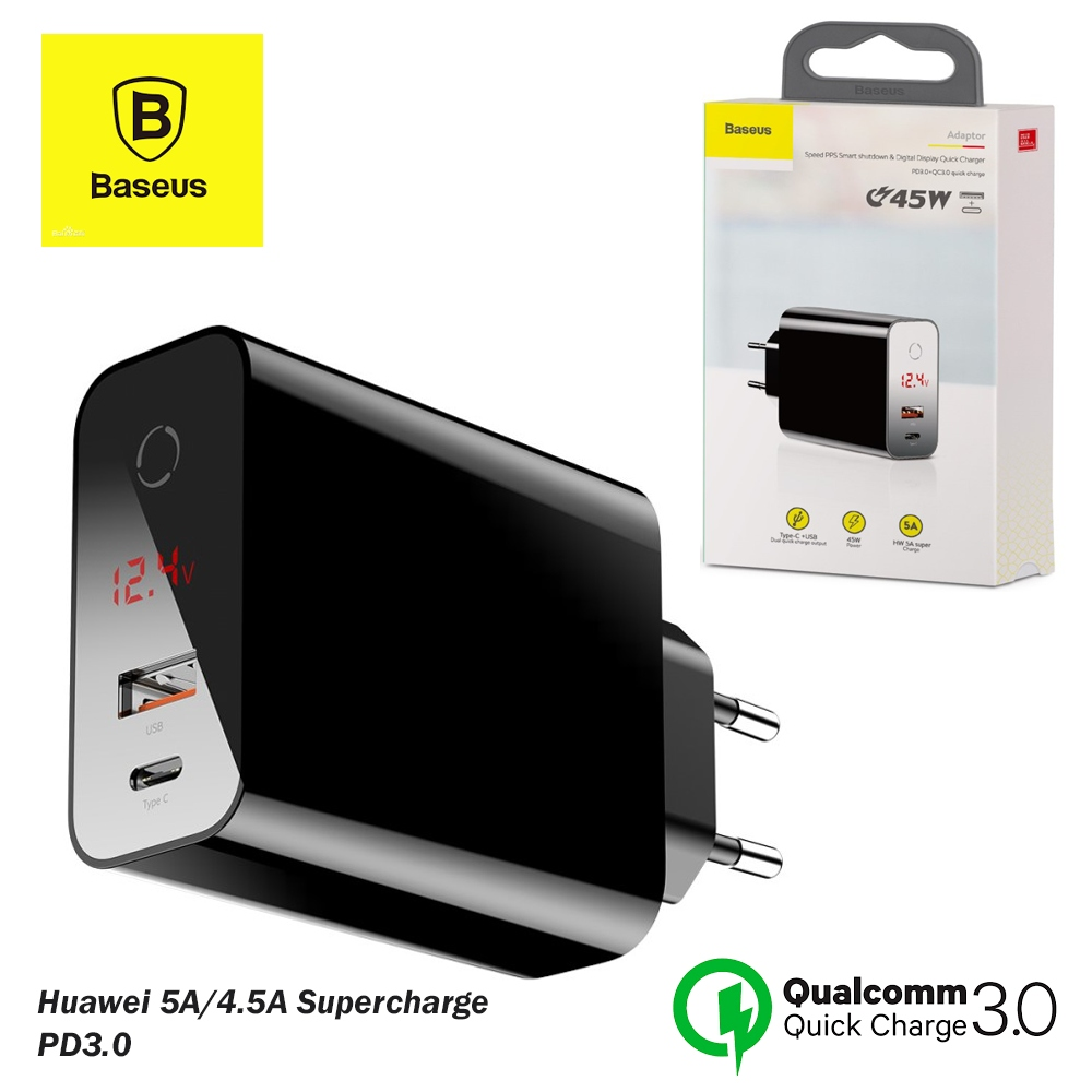 BASEUS Speed PPS Smart Charger 45W with Digital Display PD3