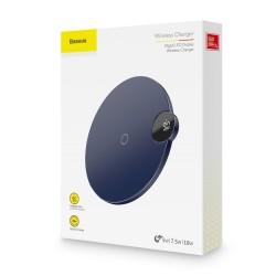Base de charge rapide sans fil BASEUS BSWC-P21 10W avec affichage à LED pour smartphone - Noir