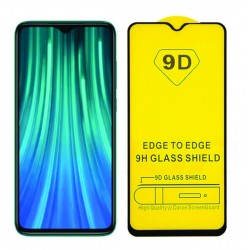 9D Full Screen Protector for Xiaomi Redmi Note 7, 9H Tempered Glass, Full Glue, 3D Curved Edges