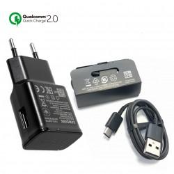 Samsung EP-TA200 (15W) QC 2.0 Quick Charger Original for Galaxy S10, S10 +, S10e - Black -Bulk + Gift
