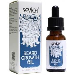 Sevich Aceite Orgánico Natural Para el Crecimiento de la Barba y el Pelo del bigote 20 ml