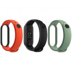 Correa Xiaomi Mi Band 3 Pack 3 Colores - Negro, Naranja, Verde