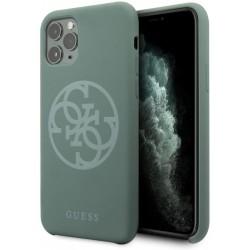 Carcasa Guess 4G de Silicona para iPhone 11 Pro Color Verde Oscuro
