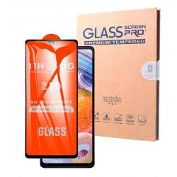 21D Vollkleber Vollbildschutz, 3D gehärtetes Glas, 11H Härte, kompatibles Samsung Galaxy A20e