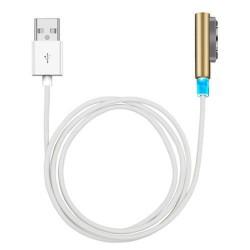 Cable de carga USB magnético con LED de Carga para Sony Xperia Z1, Z1 Compact, Z2, Z3, Z3 Compact, Z Ultra  Dorado