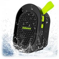 Altavoz Bluetooth Jabees beatBOX Mini Resistente al Agua - Negro/Verde